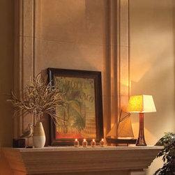 "Valencia stone fireplace overmantel - ""omega cast stone fireplace mantle"""