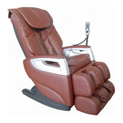 """Cozzia 16018 BROWN Full Body Massage Chair Recliner w/ LED Remote Control - Features:- Air pressure system for feat & calves- Three pre-programmed massages- Manual roller adjustments - kneading & tap- Easy to use LED remote- Massages: Swedish, shiatsu, kneading, clapping, tapping, rolling, dual-action- S Shaped Backrest Rail - The S Shaped Backrest Rail is able to accommodate users by providing them with a unique and contoured back massage experience- Air Pressure System - The Air Pressure System provides deeper level therapy to lower extremities that include the feet and calves- 7 Massage Styles - The 7 Massage Styles give users a diverse experience allowing for degrees of therapy ranging from superficial to deep tissue level massage- Automatic Angle Adjustments - The Automatic Angle Adjustments are designed to make slight manipulations during a massage to provide comprehensive coverage- Finish - This Cozzia massage chair is available in both a black or brown durable synthetic leather finish.- Dimensions - 45""""(H) x 27""""(W) x 53.5""""(OD)- Warranty - 1 Year Parts & Labor / 2 Year Parts Service Warranty 987c"""