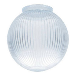 Crown Plastics - Clear Acrylic Prismatic 6 Inch Lamp Post Lamp Post Globe with 3.24 Inch Threaded - Lamp Post Globes are 6 inches in diameter with 3.24 inch OD threaded neck. - Lamp Post Globes are one piece acrylic blow molded, water and shatter resistant with UV inhibitors.  They are 6 inches in diameter with a 3.24 inch OD neck.  Please see diagram. - Crown Plastics - Prismatic Lamp Post Globes - 21006-cl-3s