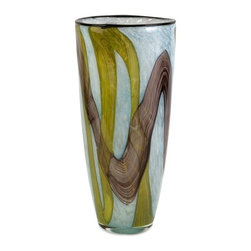 IMAX CORPORATION - Corvus Large Glass Vase - Inspired by earth and sky, the large Corvus glass vase adds an artisan piece to any room!. Find home furnishings, decor, and accessories from Posh Urban Furnishings. Beautiful, stylish furniture and decor that will brighten your home instantly. Shop modern, traditional, vintage, and world designs.