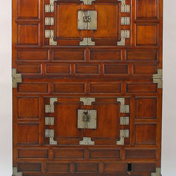 Korean 2-Piece Tansu Antique Cabinet - Korean 2-Piece Tansu Antique Cabinet
