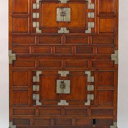Korean 2-Piece Tansu Antique Cabinet - Korean 2-Piece Tansu Antique Cabinet