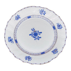 Herend - Herend Blue Garden 5-Piece Place Setting - Herend Blue Garden 5-Piece Place Setting