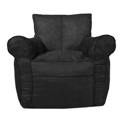 Comfort Research - Black Microsuede Ultimate Chair - All it takes is one sit to understand exactly why our one-of-a-kind Fuf Collection has brought bean bags out of your grandparent's dusty basement and into college campuses, bedrooms and living rooms around the world. With all sorts of sizes and colors available, all perfectly filled with our patented memory foam, the hardest part about sitting down on any Fuf is convincing yourself it's time to get up. Please note this item requires an additional shipping timeline of 10-14 days.
