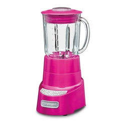 Cuisinart - SmartPower Deluxe Blender - The Cuisinart SmartPower Deluxe Blender is the blender you have been waiting for. It has all the features and all the blending power serious cooks need. Our patented stainless steel blade, large borosilicate glass jar, and Pulse at High or Low speeds let you do it all mince delicate herbs, whip up smoothies or chop ice for a crowd. With its sturdy die-cast base, this blender can handle anything you toss into it! Features: -Die-cast metal housing with stainless steel collar.-Sleek 4-speed electronic touchpad controls with blue LED indicator lights.-Standby mode.-Automatic 2-minute auto-stop feature.-High, Low, Pulse and Ice Crush controls.-Patented ultra-sharp stainless steel blade.-48 Oz thermal shock-resistant borosilicate glass jar with dripless spout.-Tight-seal lid with 2 Oz. measure pouring cap insert.-Set includes: base, blender jar, recipe book/manual.-Includes 3 Year Warranty.-Distressed: No.Dimensions: -Overall: 16.2'' H x 7.5'' W 7.5'' D, 11 lbs.-Overall Product Weight: 11 lbs.