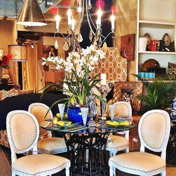 Cream / Yellow Chairs with NailHead Detail / On SALE $495 ea. - Cream / Yellow Chairs with NailHead Detail / On SALE $495 ea.