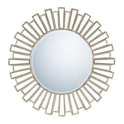 Quoizel Gwyneth Wall Mirror 39.5D in. - About Quoizel LightingLocated in Charleston, South Carolina, Quoizel Lighting has been designing timeless lighting fixtures and home accessories since 1930. They offer a distinctive line of over 1,000 styles, including chandeliers, lamps, and hanging pendants. Quoizel Lighting is the perfect way to add an inviting atmosphere to any area in your home, both indoors and out.