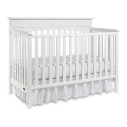 "Graco - Lauren Classic 4-in-1 Convertible Crib Set - Durable, versatile and beautiful, the Lauren 4-in-1 Convertible Crib is certified to be safe. Simple yet elegant in style, the crib moves easily on rollers and the mattress adjusts to three different heights. This crib transitions easily to a toddler bed (no guard rail needed for conversion), daybed and full-size headboard (bed frame not included). Features:  -Lauren collection. -Material: Wood. -Non - Dropside. -JPMA, ASTM and CPSC safety certified. -Three-position mattress height adjustment. -Easy to clean surfaces . -This is a NON-Drop Side crib. Dimensions: -47.63"" H x 37.5 - 42"" W x 57.38"" D, 66 lbs."