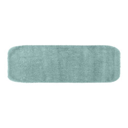 None - Plush Deluxe Caribbean Blue 22 x 60 Bath Runner - Relish the luxurious softness of this plush bathroom rug. Add a note of tasteful color to your most relaxing space,while enjoying the easy-to-clean features of nylon and the added safety of non-skid backing.