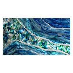 Original Painting Direct from Artsit - Jon Allen - Modern Abstract Blue and Green Original Painting - Pearl River by Jon Allen - Modern Abstract Blue and Green Original Painting   Pearl River by Jon Allen