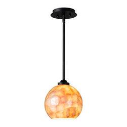 Capiz Shell Globe Pendant Light - Small -