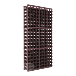 9 Column Standard Cellar Kit in Pine with Burgundy Stain + Satin Finish - A 9 column solution from our most popular style of wine racking. Completely solid assembly to withstand extensive use. We guarantee it. All the edges of our products are softened to ensure you won't get nicks or splinters, like you will from budget brands. You'll be satisfied. We guarantee that, too.