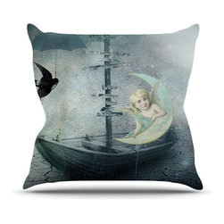 """Kess InHouse - Suzanne Carter """"Rain"""" Throw Pillow (Outdoor, 18"""" x 18"""") - Decorate your backyard, patio or even take it on a picnic with the Kess Inhouse outdoor throw pillow! Complete your backyard by adding unique artwork, patterns, illustrations and colors! Be the envy of your neighbors and friends with this long lasting outdoor artistic and innovative pillow. These pillows are printed on both sides for added pizzazz!"""