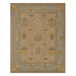 "Loloi Rugs - Loloi Rugs Walden Collection - Sand / Slate, 3'-6"" x 5'-6"" - Reimagine traditional styling with the sumptuously textured Walden Collection. These elegant, classic designs apply historic rug motifs in fresh, nuanced ways, creating timeless looks with modern appeal. Handcrafted in India in a cut-and-loop, high-low construction, each wool Walden design enjoys an airy, open pattern that is punctuated with texture and complemented with a palette perfect for today's lifestyles. If you thought you knew traditional, take a another look. Walden will surprise you.��"