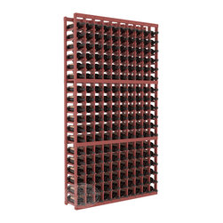 10 Column Standard Cellar Kit in Pine with Cherry Stain + Satin Finish - This rack is vital to any serious wine collector. Rock solid assembly of high grade pine or redwood is guaranteed to last. Designed for expandability, stability and rigidity; we don't top-load an extra bottle to meet our specs.
