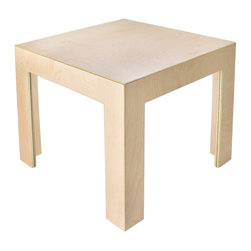 Sodura - Sodura Cube Table - Solid wood construction makes for a long lasting piece of furniture. Water based finishes are safe and non-toxic. No-formaldehyde glues keep fumes out. Easy to assemble.