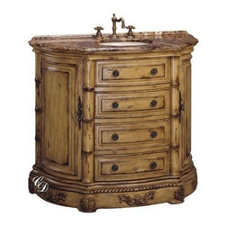EuroLux Home - New Single Sink Chest Brown/Beige/Tan Marble - Product Details