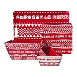 Christmas Sweater Colelction - Target's holiday decor items this year are amazing. I love this whole line of Christmas Sweater bowls, trays and plates.