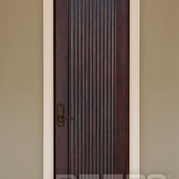 """ARTISAN COLLECTION-DOORS FOR BUILDERS, INC - Our custom interior wood doors are crafted from wood ONLY. The most popular wood options include Mahogany, Cherry, Knotty Alder, Walnut, Ash, Oak or any other wood species of your choice. Each wood slab is 1-3/4"""" thick, is pre-finished with a furniture quality wood finish, and comes with a knock down jamb, and ball bearing bronze hinges."""
