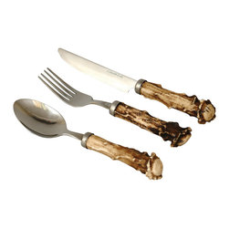 Faux Antler Crown Flatware - Here's another easy way to add a bit of style.