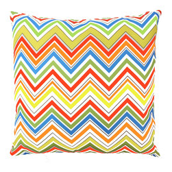 """DD - Multicolored Eddie Outdoor Pillow 20"""" x 20"""" - This multicolored Eddie outdoor pillow will bring vibrant colors to your backyard that are sure to be the spot light"""
