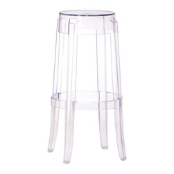 ZUO MODERN - Anime Bar Chair Transparent - The Anime bar chair is the essence of modern with its transparent single mold polycarbonate construction.
