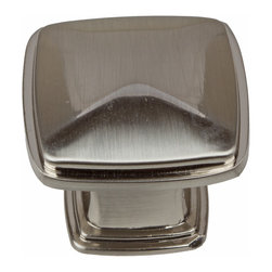 GlideRite - GlideRite 1.25-inch Satin Nickel Square Deco Cabinet Knobs (Pack of 10) - Dress up your cabinets by upgrading to these quality cabinet knobs by GlideRite Hardware. These knobs are a perfect addition or replacement for any kitchen or bathroom cabinet.
