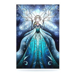 """Kess InHouse - Mandie Manzano """"The Snow Queen"""" Frozen Metal Luxe Panel (16"""" x 20"""") - Our luxe KESS InHouse art panels are the perfect addition to your super fab living room, dining room, bedroom or bathroom. Heck, we have customers that have them in their sunrooms. These items are the art equivalent to flat screens. They offer a bright splash of color in a sleek and elegant way. They are available in square and rectangle sizes. Comes with a shadow mount for an even sleeker finish. By infusing the dyes of the artwork directly onto specially coated metal panels, the artwork is extremely durable and will showcase the exceptional detail. Use them together to make large art installations or showcase them individually. Our KESS InHouse Art Panels will jump off your walls. We can't wait to see what our interior design savvy clients will come up with next."""