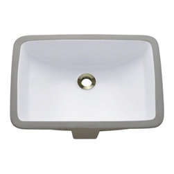 PolarisSinks - Polaris P3191UW White Undermount Porcelain Bathroom Sink - Our extensive line of porcelain sinks will compliment any decor from the traditional to the unique. Our porcelain sinks are true vitreous China with a triple laid glaze to create the strongest sink you will find. Our porcelain sinks are extremely low maintenance. Our porcelain sinks are covered by a limited lifetime warranty. Each comes with a cardboard cutout template and mounting hardware.