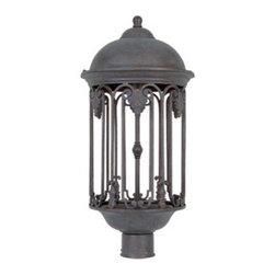 "Designer Fountain - Barrington-DS 11 1/2"" Post Lantern-DS - 11 inches dark sky post lantern"
