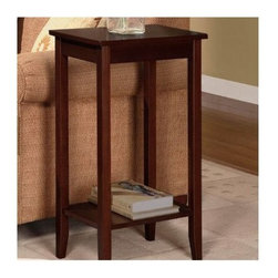 "Dorel Home Products - ""Dorel Home Products Tall End Table, Coffee Brown"" - ""Bring a sophisticated style into any home with this tall and sleek accent table. Combine with a nesting table, coffee table or console table for a more complete lookDimensions (W x L x H): 15"""" x 12"""" x 29""""Polished chrome handle accentMedium coffee finishEasy to assemble"""