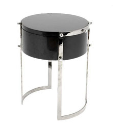 Eichholtz Oroa - Side Table Coco, Stainless Steel and Piano Black - Stainless steel and piano black finish