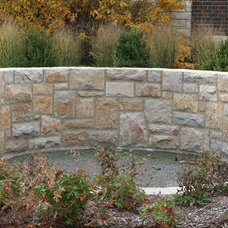 Traditional Landscape by The Quarry Mill Natural Stone Veneer