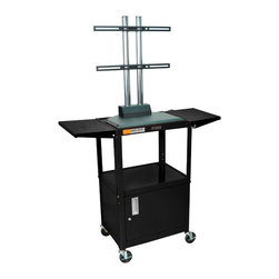 """Luxor - Luxor Flat Panel Cart - AVJ42CDL-LCD - The Luxor AVJ42-LCD series are excellent multipurpose AV/utility carts. This unit comes with a LCD mount that holds up to a 42"""" flat panel display"""
