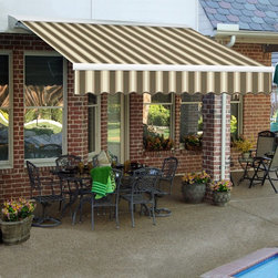 Awntech - Awntech DESTIN 24 ft. Manual Retractable Awning - DM24-O - Shop for Windows and Hardware from Hayneedle.com! More about BEAUTY-MARKConstructed of powder-coated steel and/or structural aluminum BEAUTY-MARK frames are engineered to endure rough weather conditions. These outdoor products have been engineered and tested to withstand excessive wind and snow loads. BEAUTY-MARK fabrics are comprised of state-of-the-art materials that are moisture- mildew- soil- and sometimes fire-resistant. SuperStrength lof monofilament threads are second to none with built-in UV blockers. They skip the cotton core that most other awning threads have which means seams have less chance of rotting or breaking apart.About AwntechBringing you BEAUTY-MARK awnings - a name synonymous with classic design and quality workmanship - Awntech's products range from prepackaged lightweight modular units to high-end ornamental works of art. They offer competitive prices on products of superior quality and durability that are easy to install. Awntech strives to bring you high-quality designer modular structures as mass production prices.A leader in the awning industry Awntech responds to the needs of do-it-yourself home improvement and business owners as a proven supplier of high-quality durable and affordable awnings structures accessories and materials for commercial and residential use.