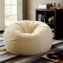 Sherpa Small + Large Beanbags - Just throw one of these furry beasts anywhere for the ultimate in chillaxing.