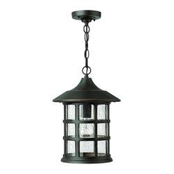 Hinkley Lighting - 1802OZ Freeport Outdoor Hanging Lantern, Oil Rubbed Bronze, Clear Seedy Glass - Whimsical Outdoor Hanging Lantern in Oil Rubbed Bronze with Clear Seedy glass from the Freeport Collection by Hinkley Lighting.