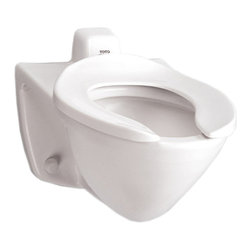 Toto - Toto CT708EVG#01 White Flushometer Hi-Efficiency Toilet 1.28GPF, Back Inlet Spud - The Commercial collection by Toto gives an automatic, elegant, elongated look to any commercial applications.