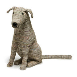 Roost - Recycled Rover - Recycled newspaper magically crafted into this adorable puppy will be a best friend for your family. Rover will guard your home, welcome you when you return and enchant visitors. Sitting on his haunches, he lovingly looks to you and you may be tempted to offer him a treat.