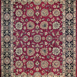 Loloi Rugs - Loloi Rugs MAPLMP-07REBL7999 Maple Red-Black Traditional Hand Tufted Rug - Transform your home into a manor steeped in elegance and tradition with the majestic Maple Collection. These timeless Persian designs carry the rich heritage of centuries of carpet making in each arabesque, stylized flower and intricate border. Maple Collection rugs are hand-tufted in India of 100-percent wool so they are eco-friendly and mindfully crafted with sustainable materials. With colors as rich as these, you will feel like nobility every time you walk into your home.