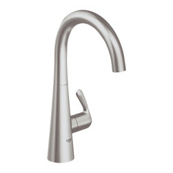Grohe - Grohe 30026DC0 Basin/Pillar Tap In Supersteel - Grohe 30026DC0 from the Ladylux Faucet Collection follows the tradition of the original Ladylux, the first kitchen faucet in the United States with a pull out spray. With a contemporay design to match neary any design and a dual spray trigger style spray control and SilkMove technology for improved performance. The Grohe 30026DC0 is a Basin/Pillar Tap With a Stainless Steel Finish for a non-reflective cool finish.