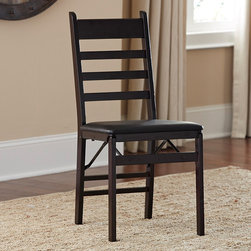 Cosco - Cosco Wood Ladder Back Folding Chair (Set of 2) - These lightweight wood folding chairs provide a convenient and stylish addition to any environment or seating arrangement. Durably crafted and designed to be lightweight and easy to store,these versatile chairs are perfect for entertaining.