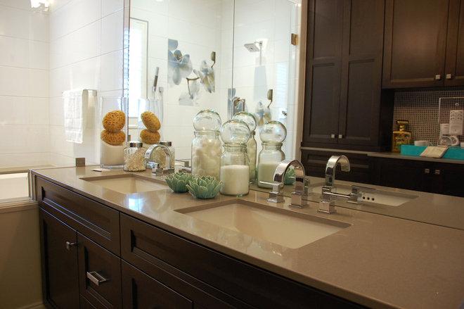 Farmhouse Bathroom by Keesee and Associates, Inc.