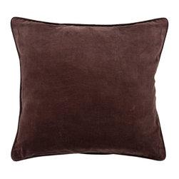Chandra Rugs - Handmade Contemporary Pillows (Without Down) - CUS28001 - 1'6 x 1'6 - Brown - Handmade Contemporary Pillows (Without Down) - CUS28001 - 1'6 x 1'6