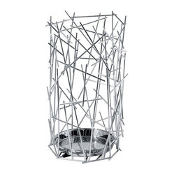 Alessi - Alessi 'Blow up' Umbrella Stand - When you come in out of the gray, at least you'll be greeted by this glimmering umbrella stand. The sensational-looking structure features a well-ventilated design, as well as a bottom tray to collect any remaining runoff.