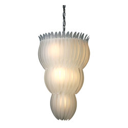 Trend Lighting - Aphrodite 10-Light Chandelier - For a unique, refined take on the chandelier, look no further than this modern gem. Shapely panels of snowy glass have been crafted into this stunning three-tiered piece of illumination and style. You'll love basking in the glow of this gorgeous light.