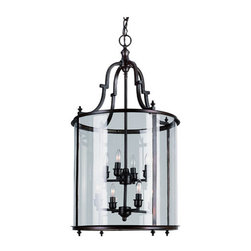 Trans Globe Lighting - Rubbed Oil Bronze Eight-Light Lantern Pendant - Clear Glass Trans Globe Lighting - 8703-ROB