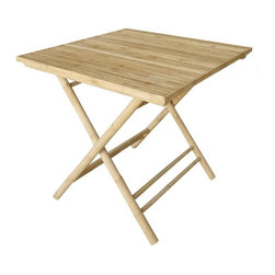 ZEW Inc. - Bamboo Collapsible Square Table - Bamboo Collapsible Square Table