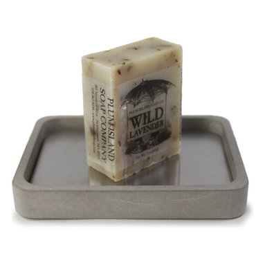 Culinarium - Hand-Crafted Soap Gift Set - Bring a little Provence home to you with this hip, concrete soap dish and wild lavender soap set. Scented with pure French lavender essential oils and ground lavender petals, you'll experience the south of France each time you wash your hands. Oh la la!