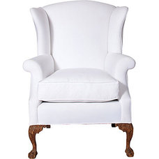 Chippendale-Style Wing Chair - One Kings Lane - Vintage & Market Finds - Furnitu